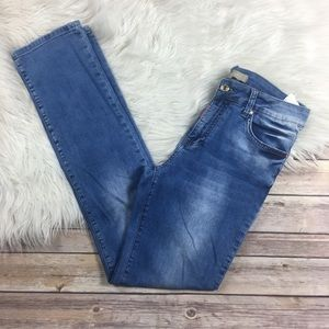 Dsquared Jeans Straight Leg Light Wash Stretch